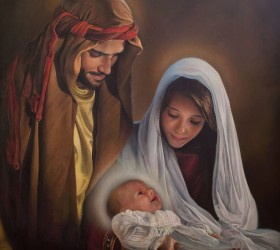Holy Family Oil On Canvas